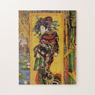 Van Gogh Japanese Courtesan Oiran Vintage Portrait Jigsaw Puzzle