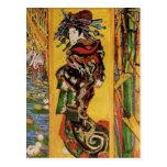 Van Gogh Japanese Courtesan Oiran Vintage Portrait Postcard