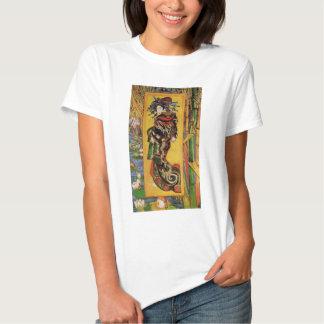 Van Gogh Japanese Courtesan Oiran Vintage Portrait T-shirt