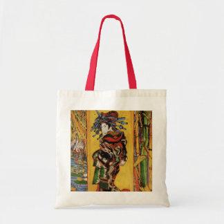 Van Gogh Japanese Courtesan Oiran Vintage Portrait Tote Bag