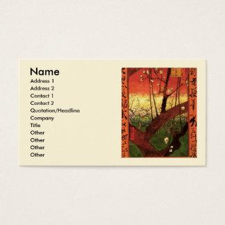 Van Gogh Japanese Flowering Plum Tree, Fine Art Business Card