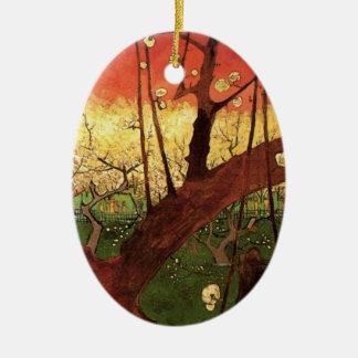 Van Gogh Japanese Flowering Plum Tree, Fine Art Ceramic Ornament