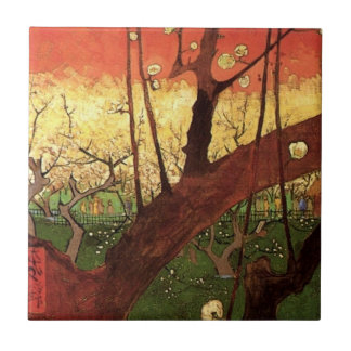 Van Gogh Japanese Flowering Plum Tree, Fine Art Ceramic Tile