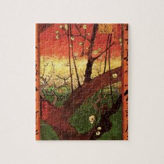 Van Gogh Japanese Flowering Plum Tree, Fine Art Jigsaw Puzzle