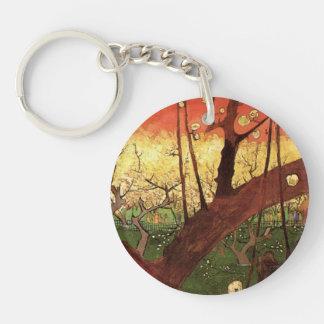Van Gogh Japanese Flowering Plum Tree, Fine Art Keychain