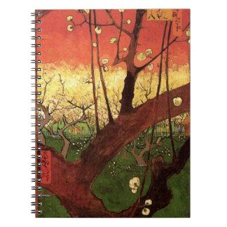 Van Gogh Japanese Flowering Plum Tree, Fine Art Notebook