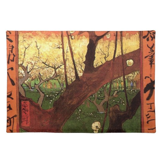 Van Gogh Japanese Flowering Plum Tree, Fine Art Placemat