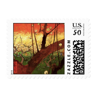 Van Gogh Japanese Flowering Plum Tree, Fine Art Postage