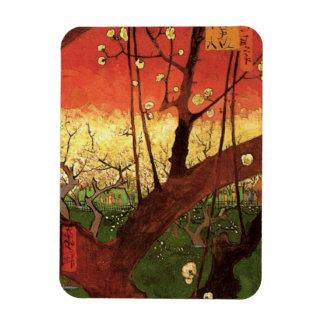 Van Gogh Japanese Flowering Plum Tree, Fine Art Rectangular Photo Magnet