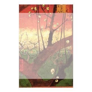 Van Gogh Japanese Flowering Plum Tree, Fine Art Stationery