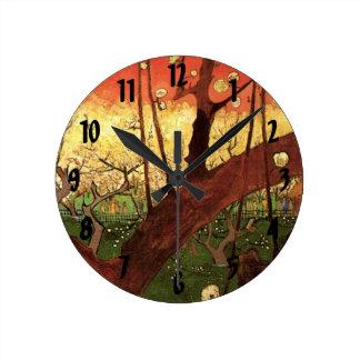 Van Gogh Japanese Flowering Plum Tree, Vintage Art Wall Clocks