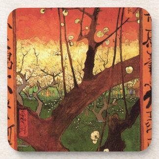 Van Gogh Japanese Flowering Plum Tree, Vintage Art Beverage Coaster