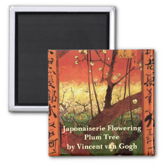 Van Gogh Japanese Flowering Plum Tree, Vintage Art Magnets