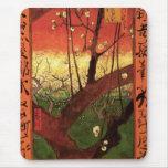 Van Gogh Japanese Flowering Plum Tree, Vintage Art Mouse Pad