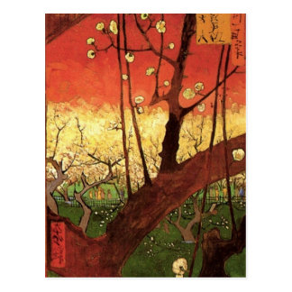Van Gogh Japanese Flowering Plum Tree Vintage Art Postcard