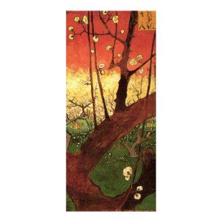Van Gogh Japanese Flowering Plum Tree, Vintage Art Rack Card Template