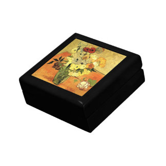 Van Gogh Japanese Vase with Roses and Anemones Jewelry Box
