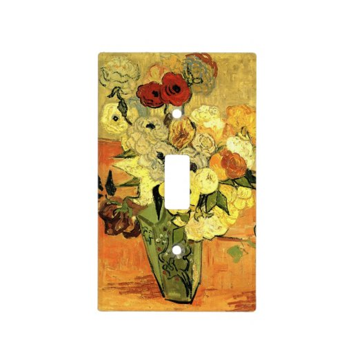 Zazzle Van Gogh Japanese Vase with Roses and Anemones Lig...