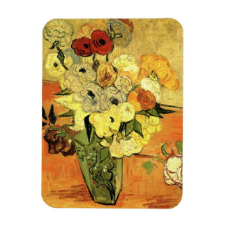 Van Gogh Japanese Vase with Roses and Anemones Magnet