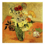 Van Gogh - Japanese Vase with Roses and Anemones Print