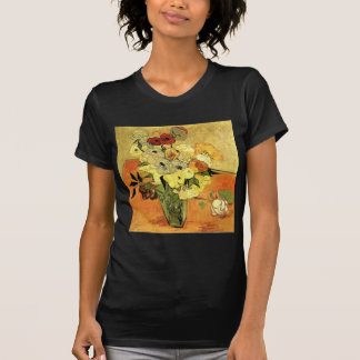 Van Gogh Japanese Vase with Roses and Anemones T-Shirt