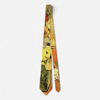Van Gogh Japanese Vase with Roses and Anemones Tie