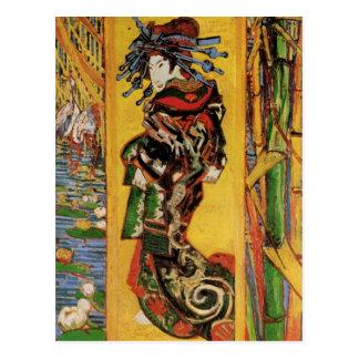 Van Gogh Japonaiserie, Oiran (cortesana) (F373) Tarjeta Postal