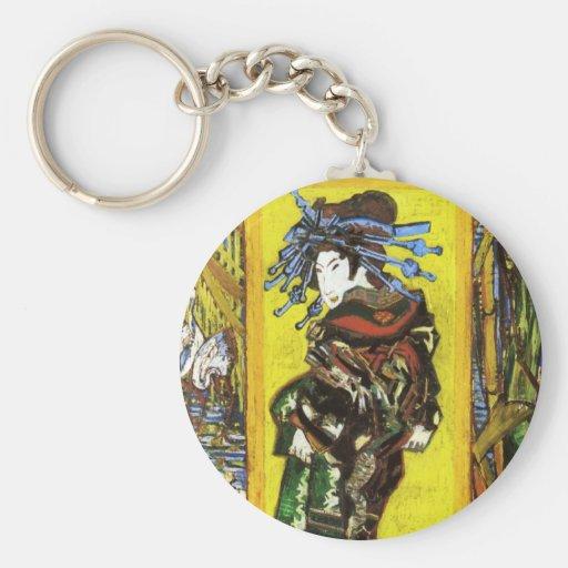 Van Gogh Japonaiserie Oiran Key Chain