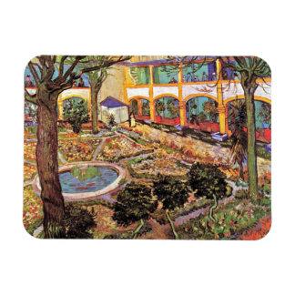 Van Gogh - jardín del hospital en Arles Imán De Vinilo