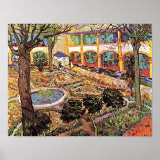 Van Gogh - jardín del hospital en Arles