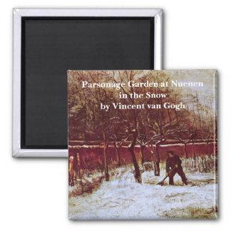 Van Gogh; Jardín del Parsonage en Nuenen en la Imán Cuadrado