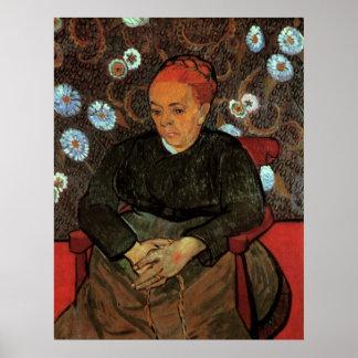 Van Gogh, La Berceuse, Lullaby, Vintage Portrait Poster