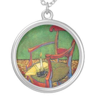 Van Gogh - la butaca de Paul Gauguin Colgante Redondo