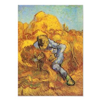 """Van Gogh, la carpeta de la gavilla, impresionismo Invitación 5"""" X 7"""""""