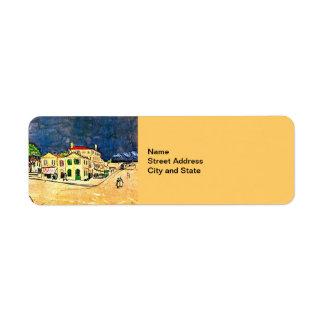 Van Gogh: La casa amarilla (la casa de Vincent) Etiquetas De Remite