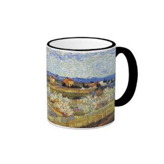 Van Gogh - La Crau con los árboles de melocotón en Taza A Dos Colores