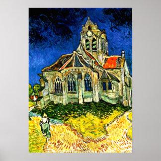 Van Gogh - la iglesia en Arles Póster