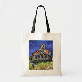 Van Gogh - la iglesia en Auvers Bolsa Tela Barata