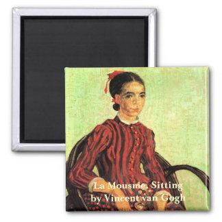 Van Gogh, La Mousme, Sitting, Vintage Portrait Magnet