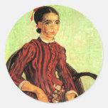 Van Gogh, La Mousme, Sitting, Vintage Portrait Stickers