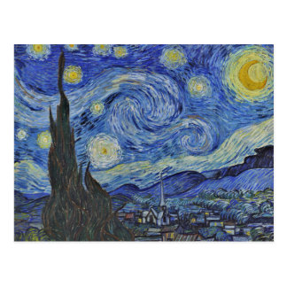 Van Gogh la noche estrellada GalleryHD Postal