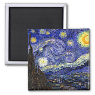 Van Gogh la noche estrellada Imanes De Nevera