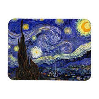 Van Gogh la noche estrellada Imanes Flexibles