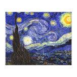 Van Gogh - la noche estrellada Lona Envuelta Para Galerías