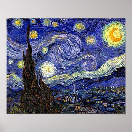 Van Gogh la noche estrellada Impresiones