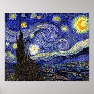 Van Gogh - la noche estrellada Póster