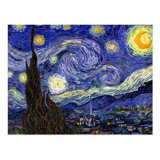 Van Gogh la noche estrellada Postal