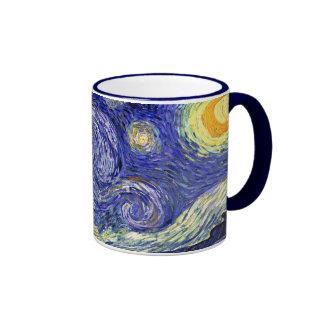 Van Gogh - la noche estrellada Taza A Dos Colores