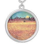 Van Gogh - la puesta del sol en campos de trigo Joyería