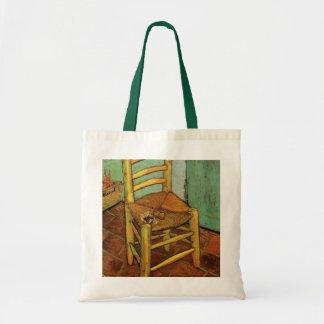 Van Gogh; La silla de Vincent con el tubo, arte Bolsa Tela Barata